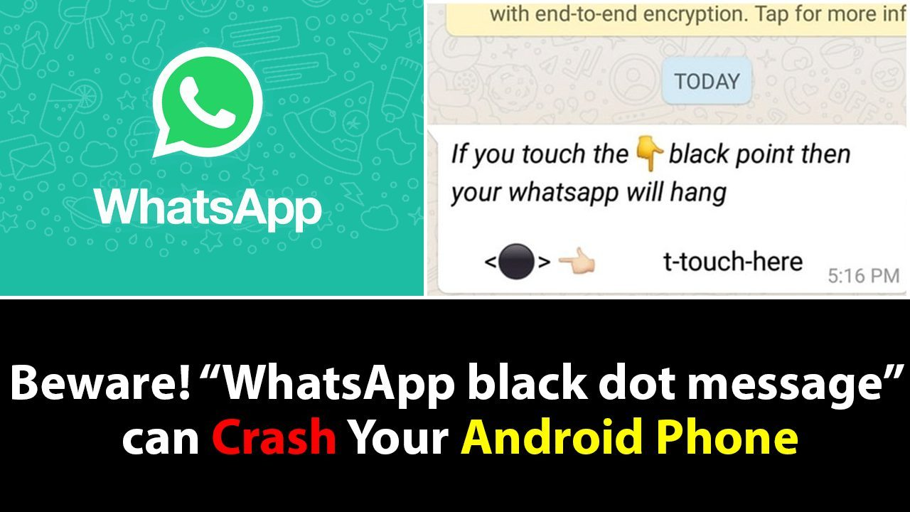 whatsapp android hang message