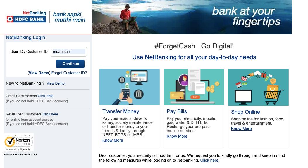 netbanking hdfcbank com/netbanking - HDFC Bank NetBanking