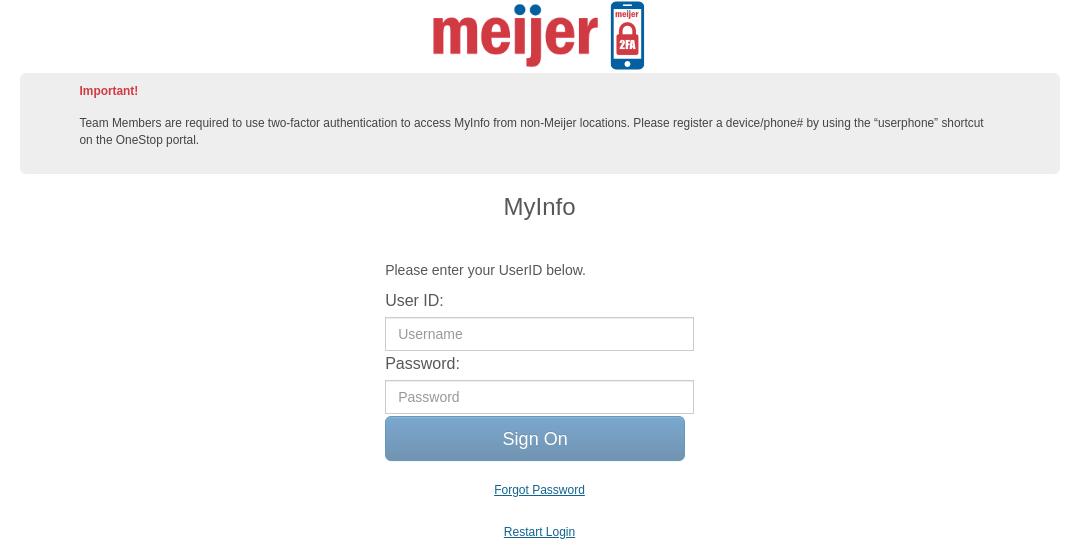 meijer myinfo logo