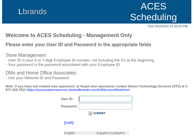 Aces Limitedbrands Com Login To Your Associate Resources Limited Brands Account News Front
