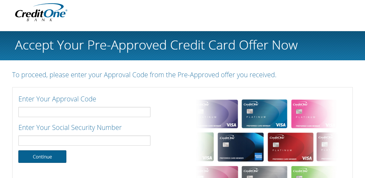 www.creditonebank.com/pre-approved - Process For Credit One Bank