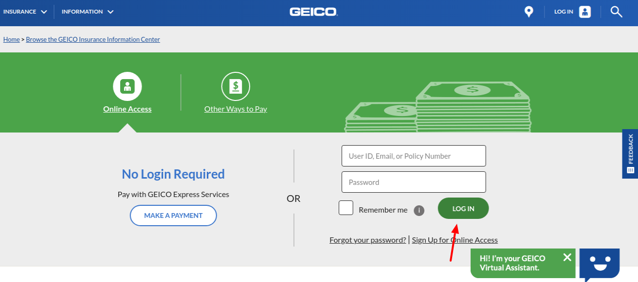 GEICO Payment Login