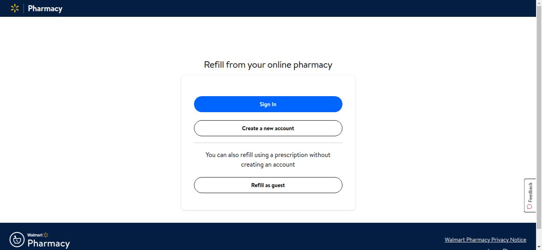 Walmart Pharmacy Refill Login
