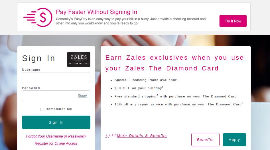 Zales Credit Card Logo