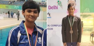 national school competition champion two swimmer
