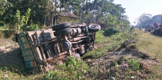 out of control truck at nayanjuli