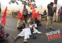 Ex mla of cmp lay down on the road