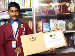 Mathematical genius Orchishman of Kharagpur at the India Book of Records