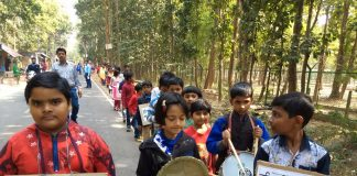Teaching of anti-pollution awareness on educational trips