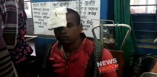 attacked on bjp workers
