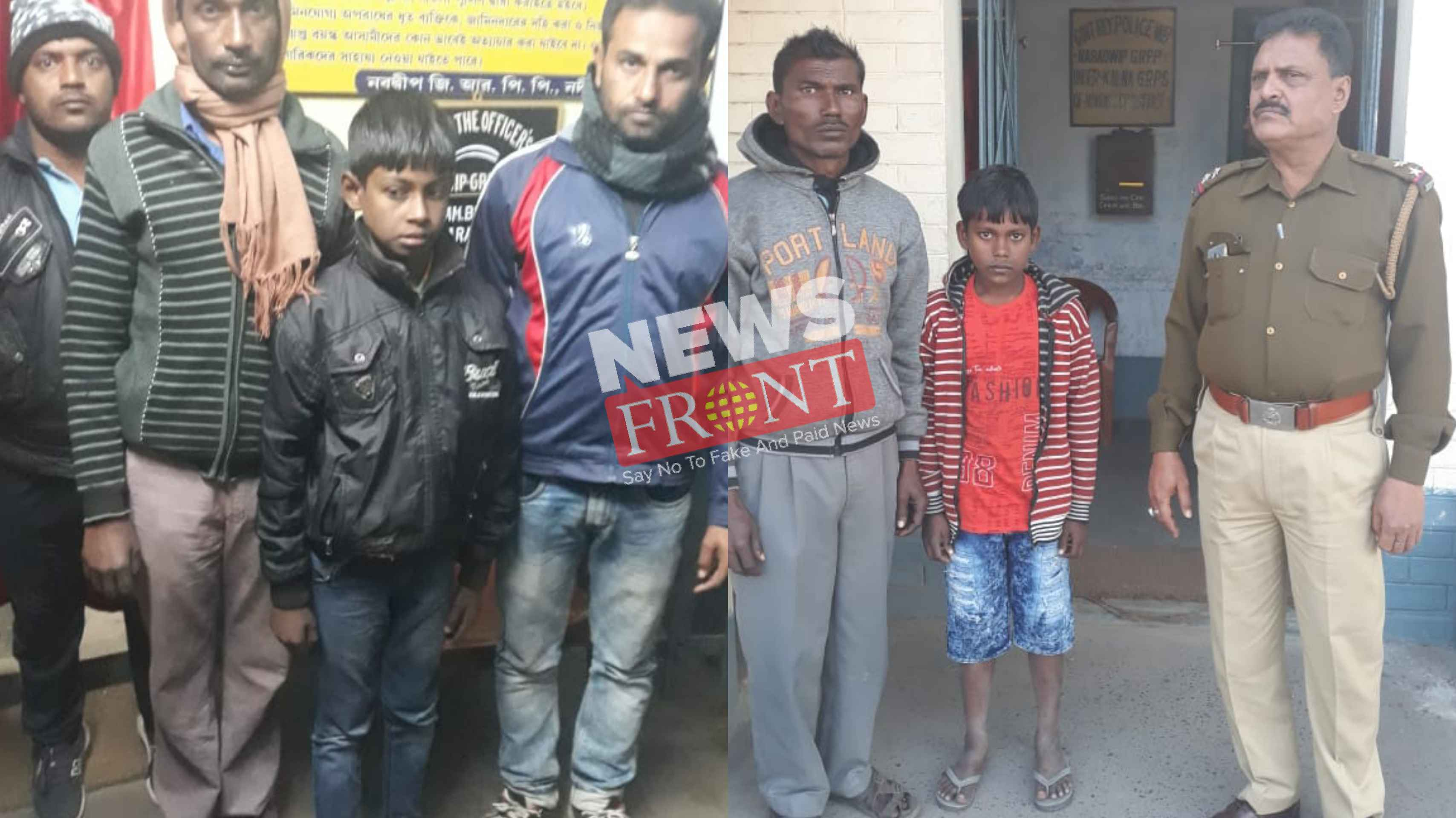 fugitive teenagers returned home by the imitative of rail police