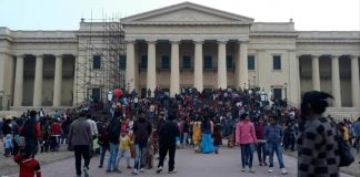 new year celebration in city of history