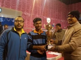 sixteen party badminton competition in Kaliyaganj