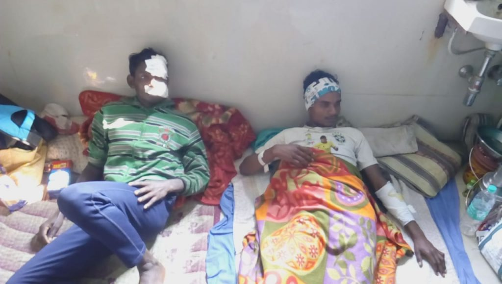 two young people injured in the of hyena