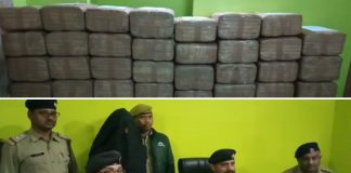 A huge amount of Marijuana rescue from oil tank
