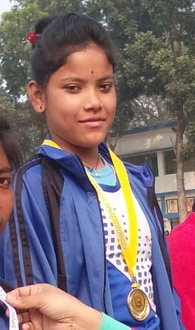 Anima of Kushmandi in the Under-19 National School Sports Competition