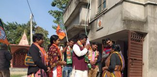 Rathin in Balurghat in the promotion of Yogi's meeting
