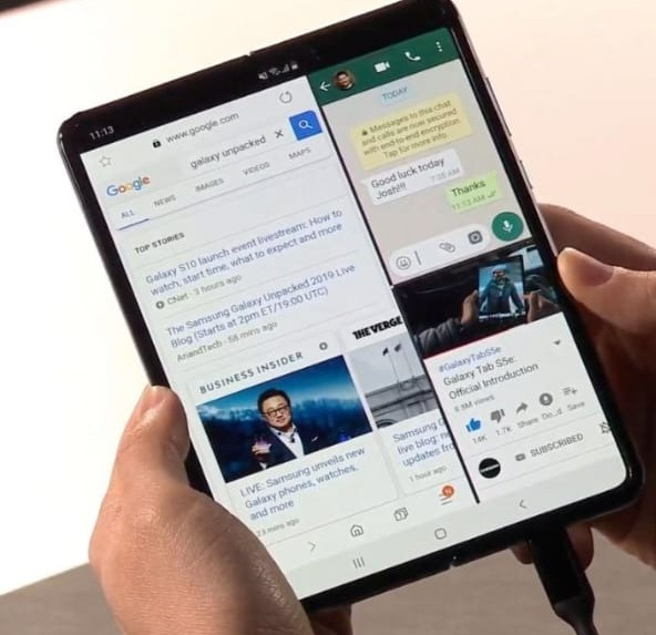 Samsung introduce first folded smartphone