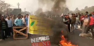 national high way blockades for protests against forest office mission 2