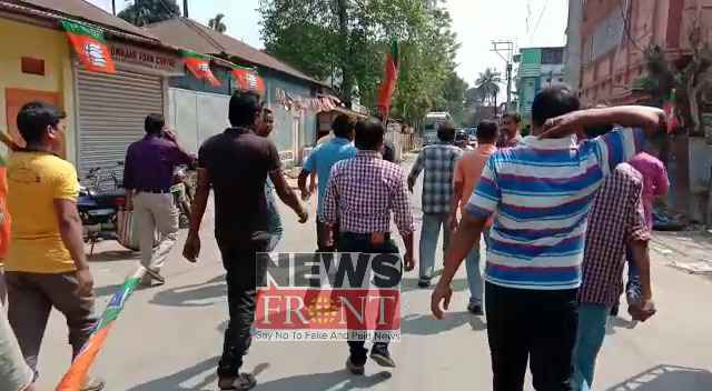 Accusation of beating bjp workers against tmc