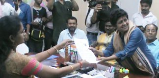 After puja Arpita submitted nomination paper