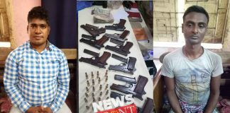 Arrested two with illegal firearms