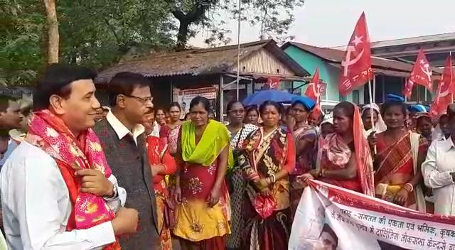 Election promotion by soman phatak at gulma