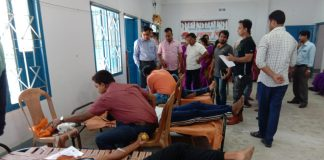 The blood donation camp organized by health center