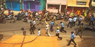 The goilator hitted for BJP and police Clash