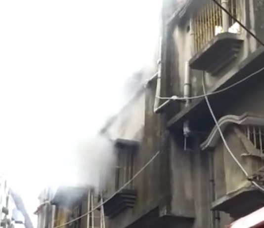the building burnt