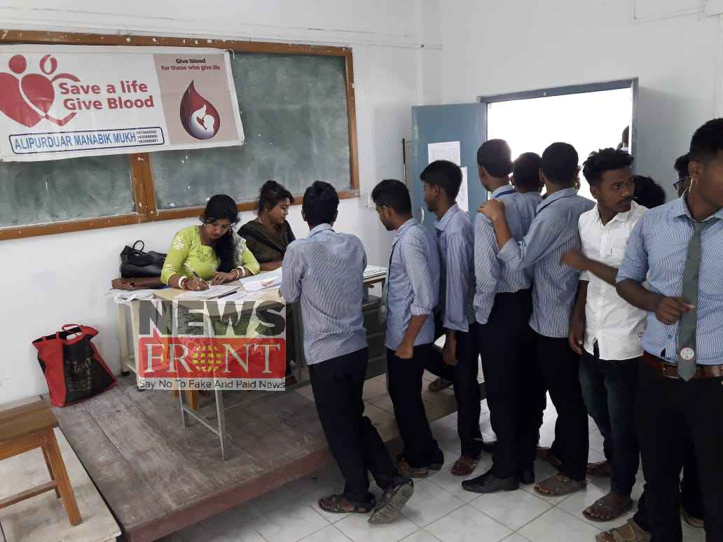 Blood donation camp at polytechnic college