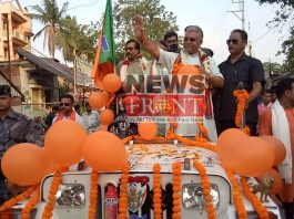 Campaign of bjp candidate at belda