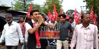 Campaign of leftfront by Ignore natural disasters