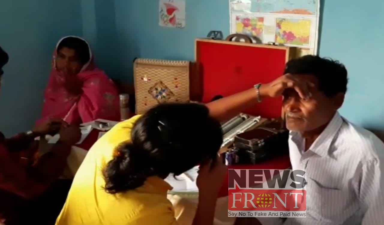 Eye check up camp at jalangi
