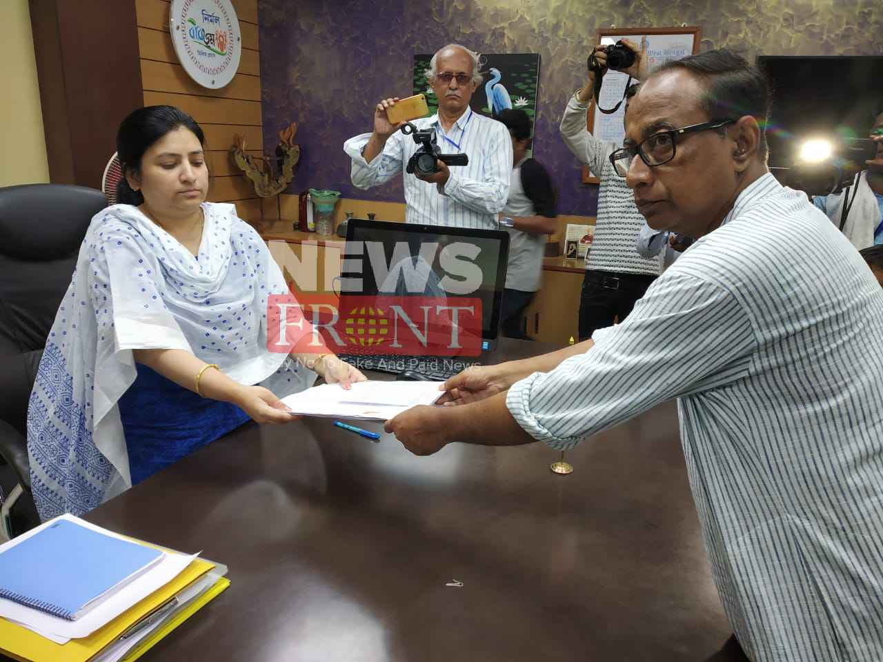 Leftfront candidate submit nomination paper