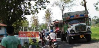 National highway blockade by local people