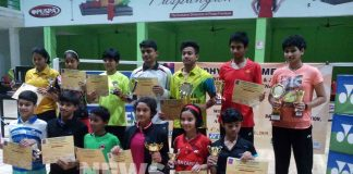 Sandhya dhar Trophy badminton competition
