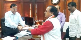 the congress nomination paper submitted
