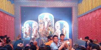 the crowd of puja at jhargram