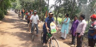 the cycle election rally of bjp