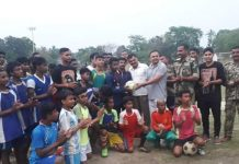 the football team of kaliganj is win
