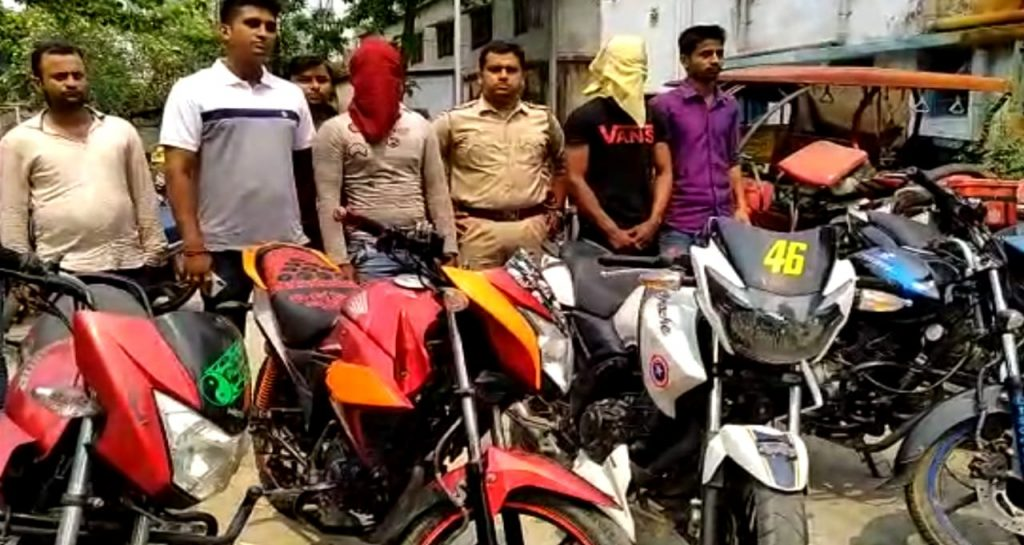 two arrested with bike