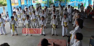 Annual belt provide camp of karate students