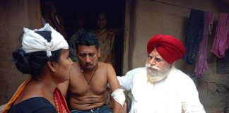 Attack on bjp worker at burdwan