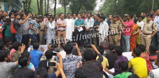 Demonstration of students workers at north Bengal university