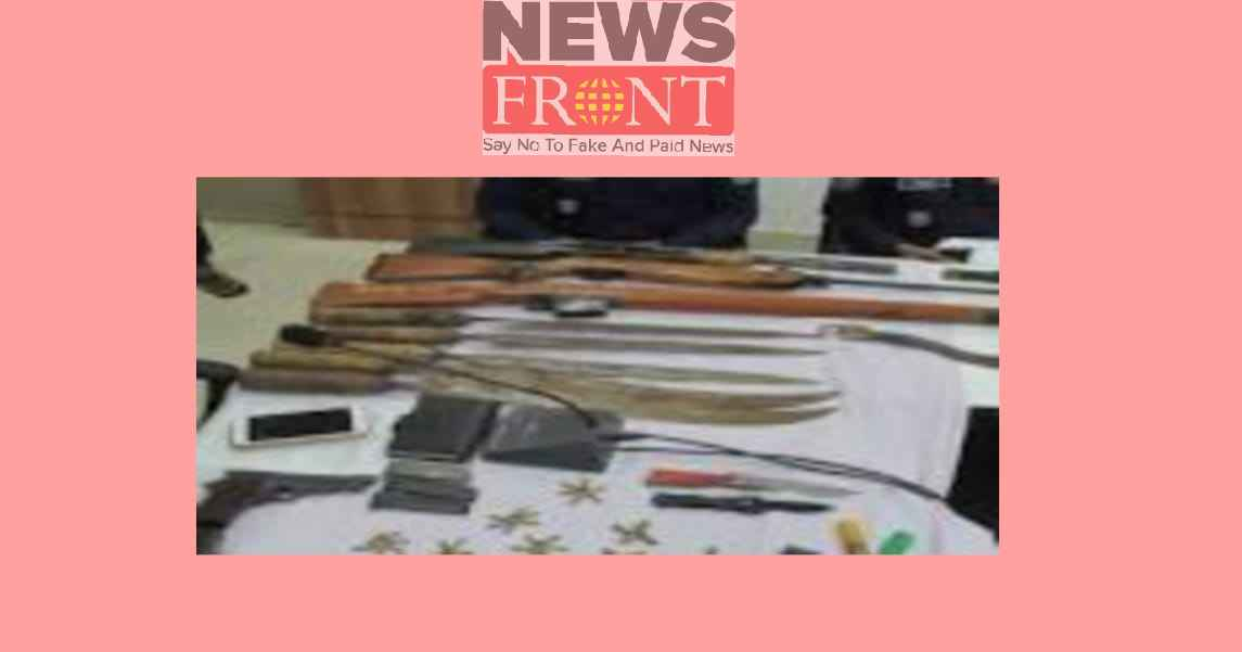 Police rescued firearms at burdwan