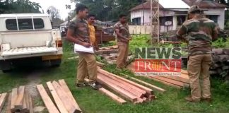 Rescued smuggle wood at alipurduar