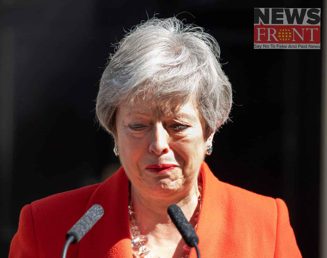 Theresa announced the decision to resign from the Conservative party leadership 2
