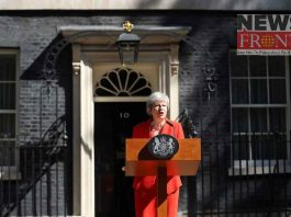 Theresa announced the decision to resign from the Conservative party leadership