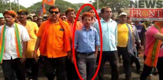 Tmc panchayat pradhan at victory procession of bjp